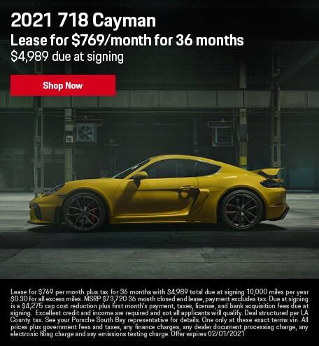 2021 718 Cayman