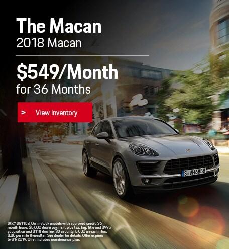 May 2018 Porsche Macan Lease
