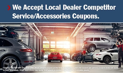 We Accept Local Dealer Competitor Service/Accessories Coupons