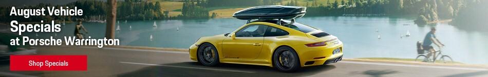 August Vehicle Specials at Porsche Warrington