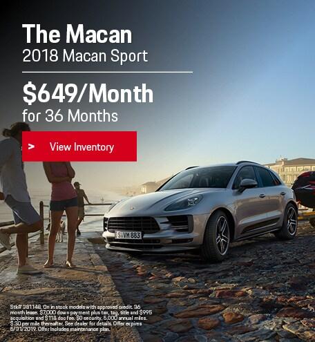 May 2018 Porsche Macan Sport Lease