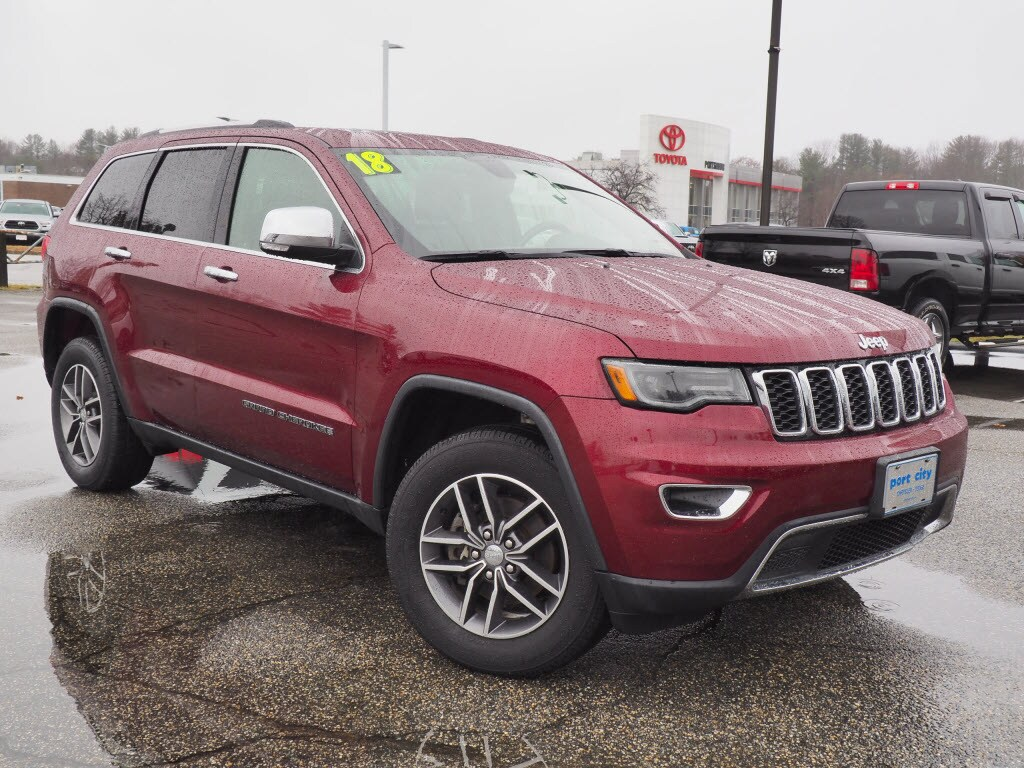 Featured Pre-Owned 2018 Jeep Grand Cherokee Limited 4x4 SUV for sale near you in Portsmouth, NH