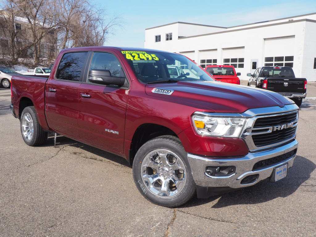 Featured New 2019 Ram All-New 1500 BIG HORN / LONE STAR CREW CAB 4X4 5'7 BOX Crew Cab for sale near you in Portsmouth, NH