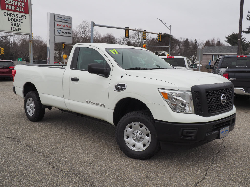 Featured Pre-Owned 2017 Nissan Titan XD S Gas Truck Single Cab for sale near you in Portsmouth, NH