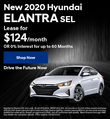 New 2020 Hyundai Elantra - Sept