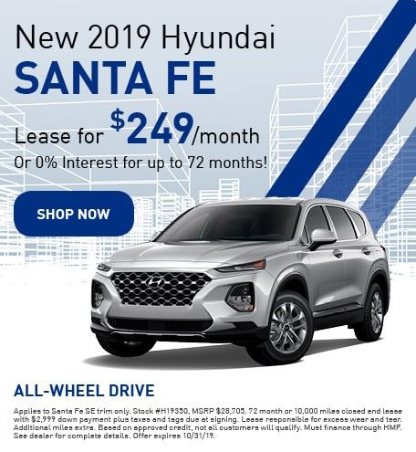 New 2019 Hyundai Santa Fe - Oct '19