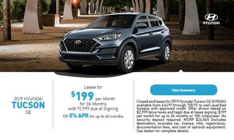 2019 Hyundai Tucson Trim=SE - June '19