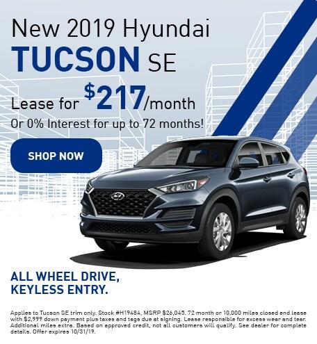 New 2019 Hyundai Tucson - Oct '19