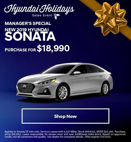 New 2019 Hyundai Sonata Manager's Special - December