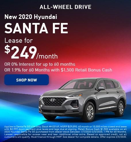New 2020 Hyundai Santa Fe - January
