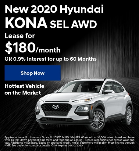 New 2020 Hyundai Kona - Sept