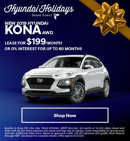 New 2019 Hyundai Kona AWD - December