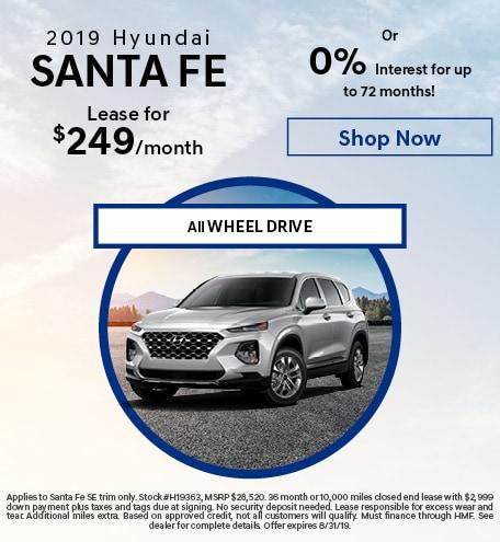 New 2019 Hyundai Santa Fe - Aug '19