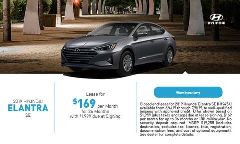 2019 Hyundai Elantra SE - June '19