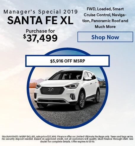 Manager's Special, New 2019 Hyundai Santa Fe XL - Aug '19