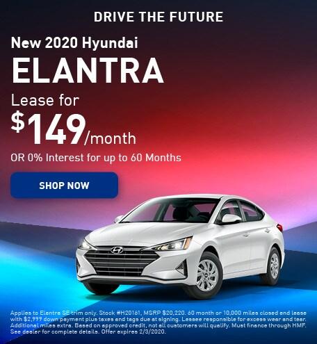 New 2020 Hyundai Elantra - January