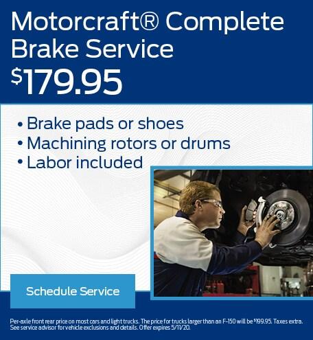 Motorcraft Brake Service