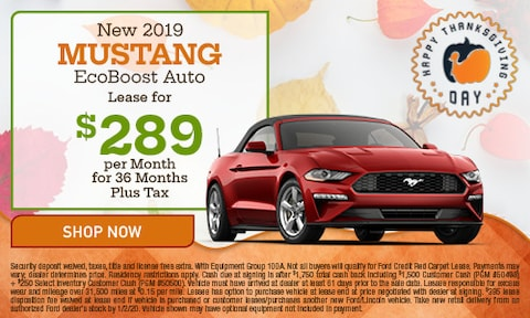 November 2019 Mustang Special