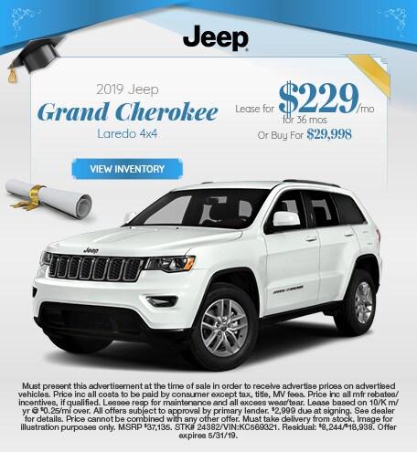 May 2019 Grand Cherokee Lease