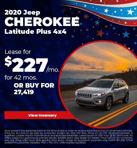 February 2020 Jeep Cherokee Lease