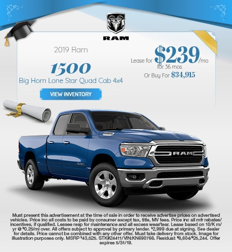 May 2019 RAM 1500 Lease