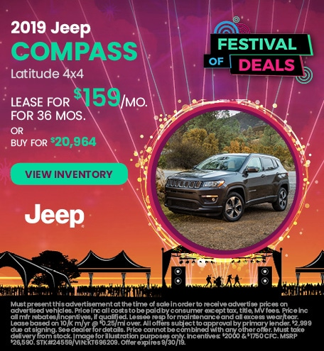 September 2019 Jeep Compass Lease