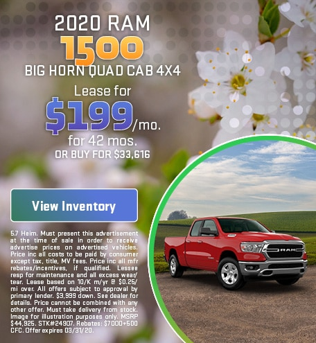 March 2020 RAM 1500 Lease