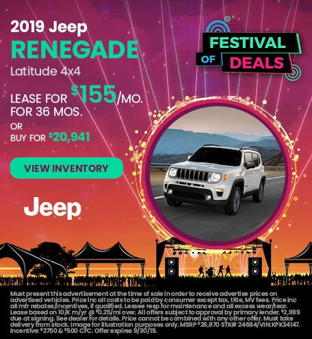 September 2019 Jeep Renegade Lease