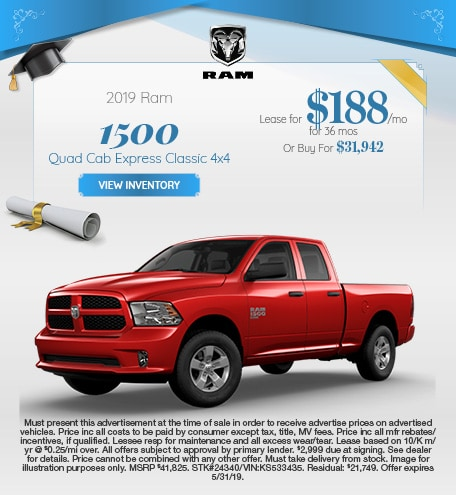 May 2019 RAM 1500 Express Lease