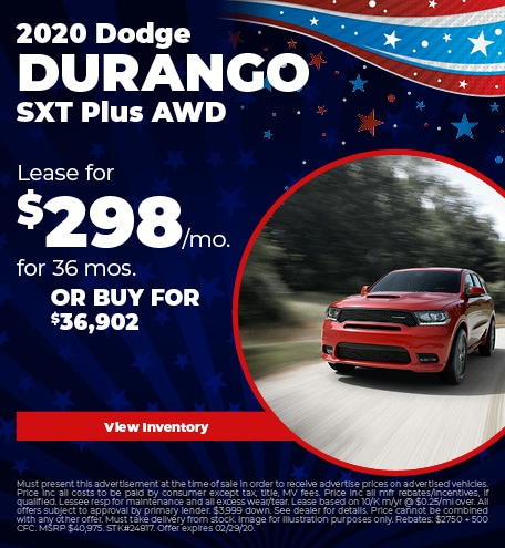 February 2020 Dodge Durango Lease