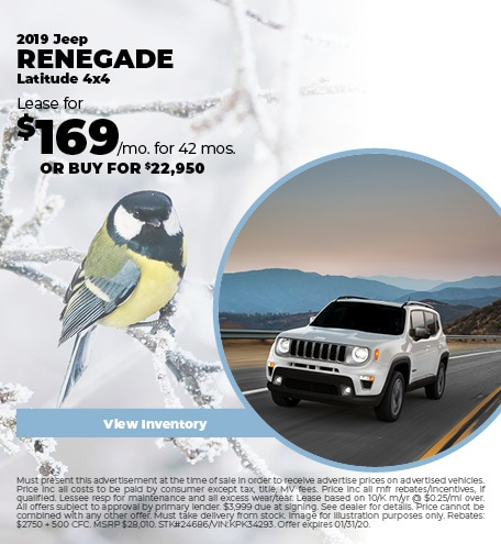 January 2019 Jeep Renegade Lease