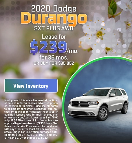 March 2020 Dodge Durango Lease