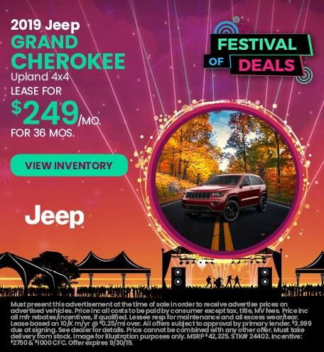 September 2019 Jeep Grand Cherokee Lease