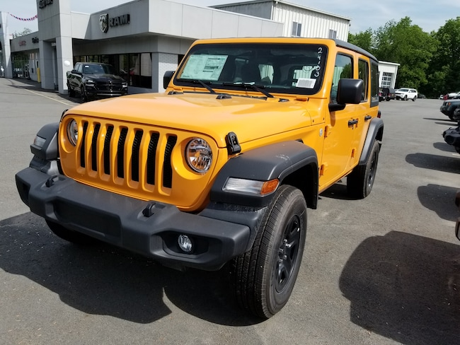 New 2018 Jeep Wrangler UNLIMITED SPORT 4X4 Sport Utility for sale at Port Jervis Auto Mall in Port Jervis, NY