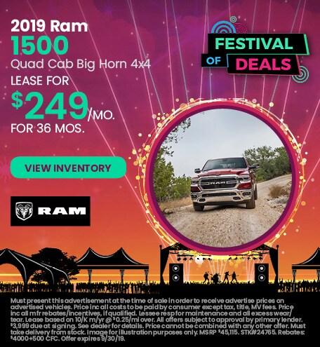 September 2019 Ram All-New 1500 Lease