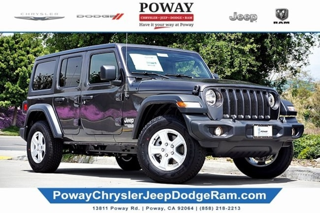 new 2019 Jeep Wrangler UNLIMITED SPORT S 4X4 Sport Utility for sale in Poway, CA
