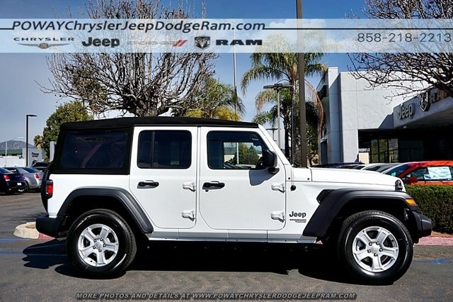 Comments: Bright White Clearcoat 2018 Jeep Wrangler Unlimited Sport S 4WD  8 Speed Automatic 3.6L 6 Cylinder ABS Brakes, Compass, Electronic Stability  ...