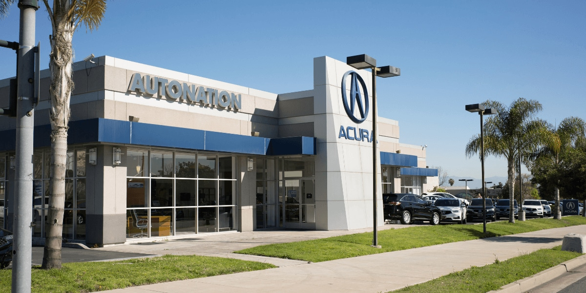 Exterior view of AutoNation Acura South Bay during the day
