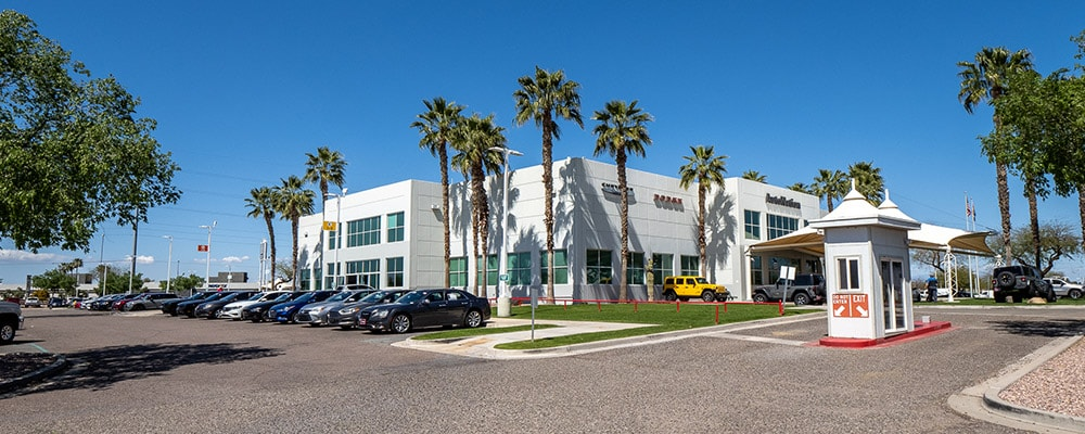Outside view of Autonation Chrysler Dodge Jeep Ram And FIAT North Phoenix