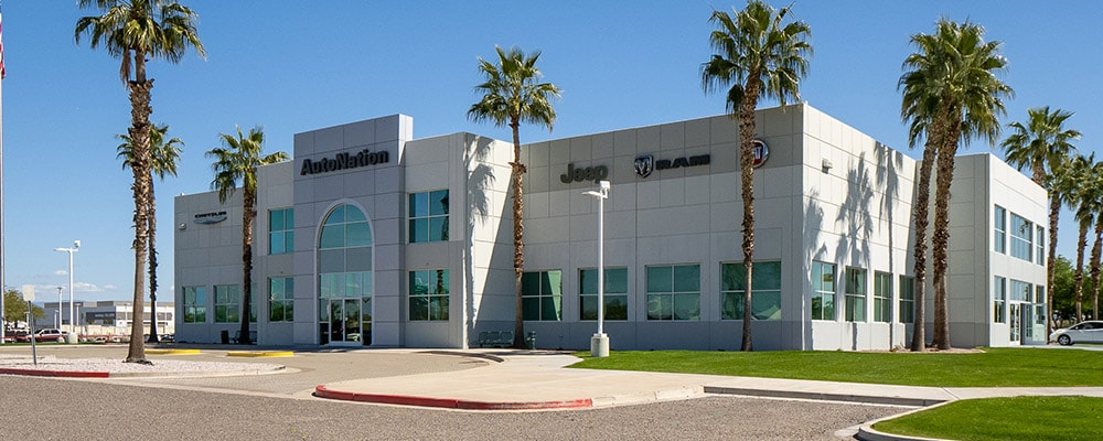 Exterior view of Autonation Chrysler Dodge Jeep Ram And FIAT North Phoenix during the day