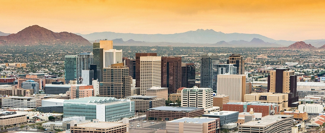 Scenic view of Phoenix, AZ
