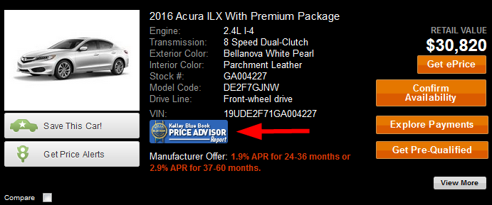kbb price advisor report information precision acura of princeton serving langhorne east. Black Bedroom Furniture Sets. Home Design Ideas