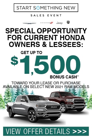 SPECIAL OPPORTUNITY FOR CURRENT HONDA OWNERS