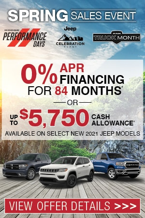 Spring Sales Event: New Specials