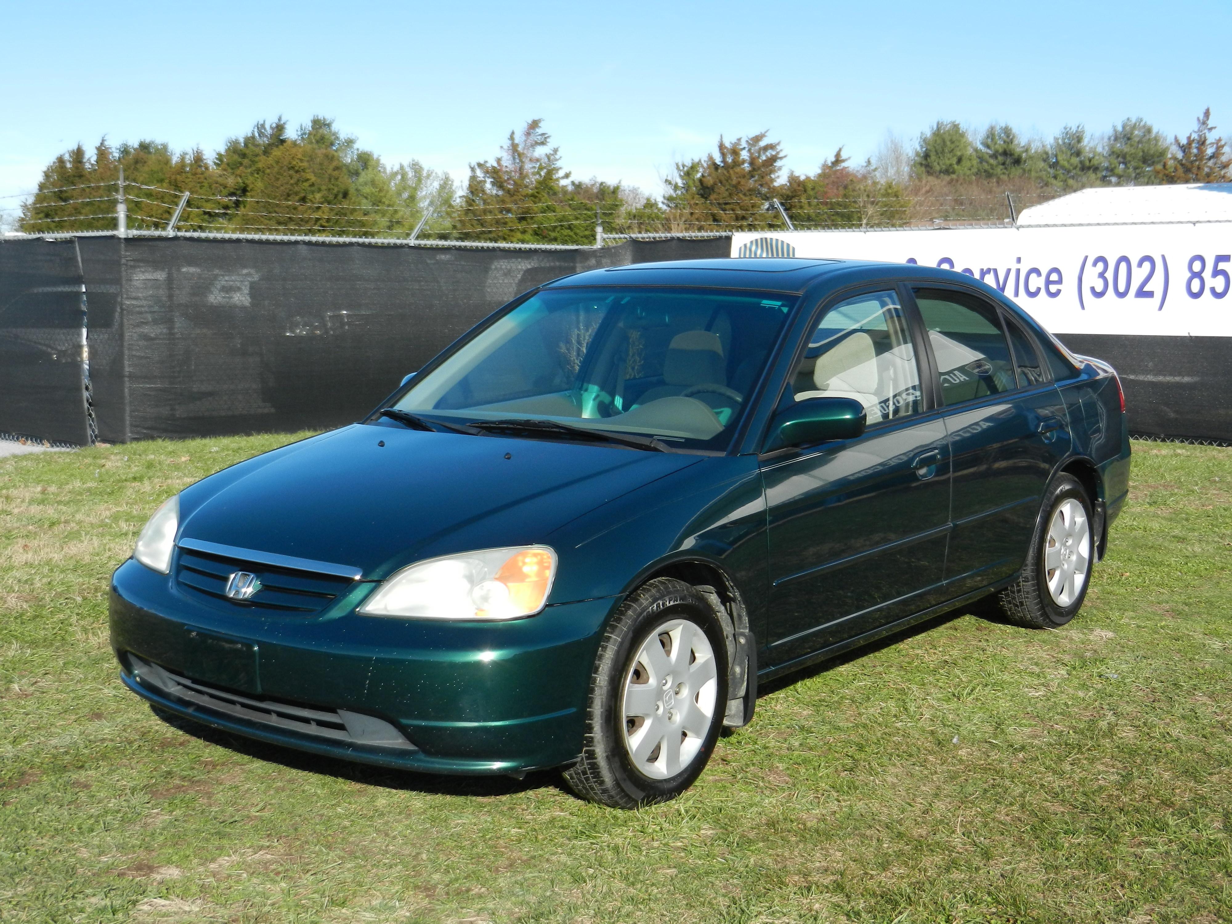 2001 Honda Civic EX w/Side SRS Sedan