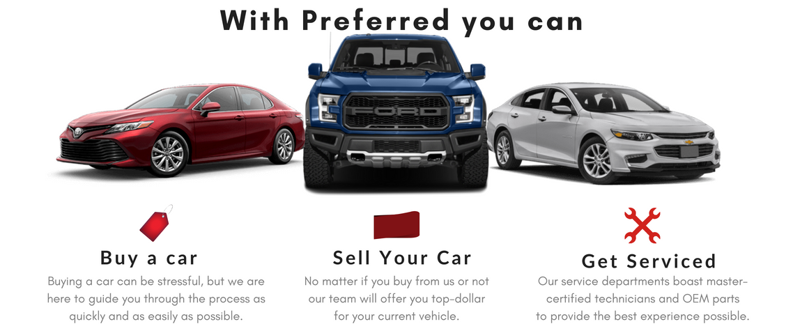 Preferred Auto Dealerships New Dodge Jeep Gmc Buick Ford