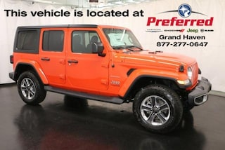 New 2018 Jeep Wrangler UNLIMITED SAHARA 4X4 Sport Utility for sale in Grand Haven MI