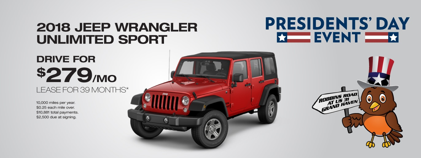 New Vehicle Lease Deals In Grand Haven MI - Chrysler lease specials michigan