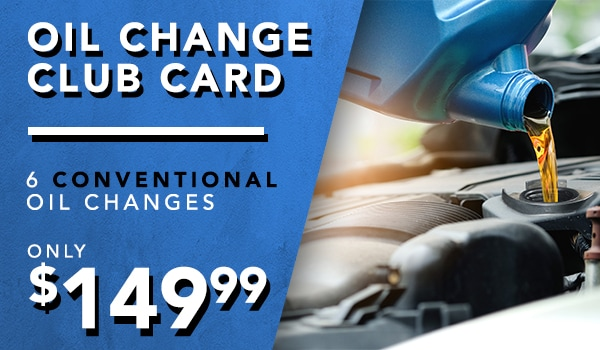 Club card 6 conventional oil changes for $149
