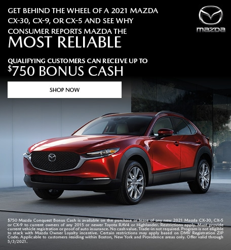Get Behind The Wheel Of A 2021 Mazda CX-30, CX-9, Or CX-5